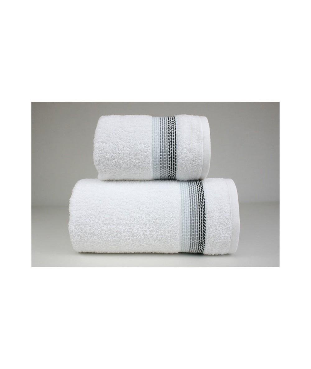Ręcznik Ombre bawełna 50x90 Biały GRENO