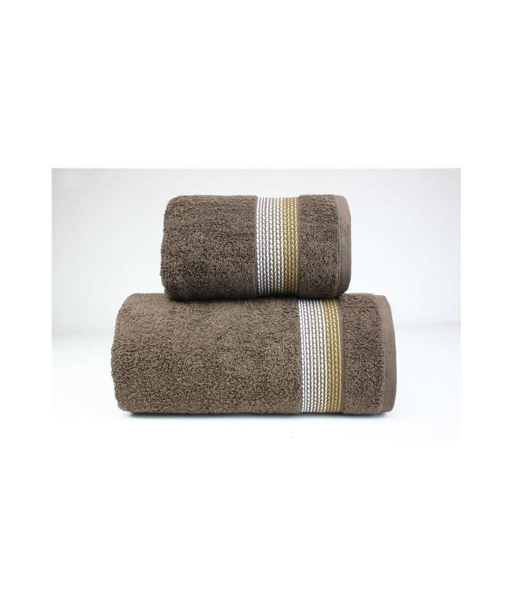 Ręcznik Ombre bawełna 50x90 Brązowy GRENO