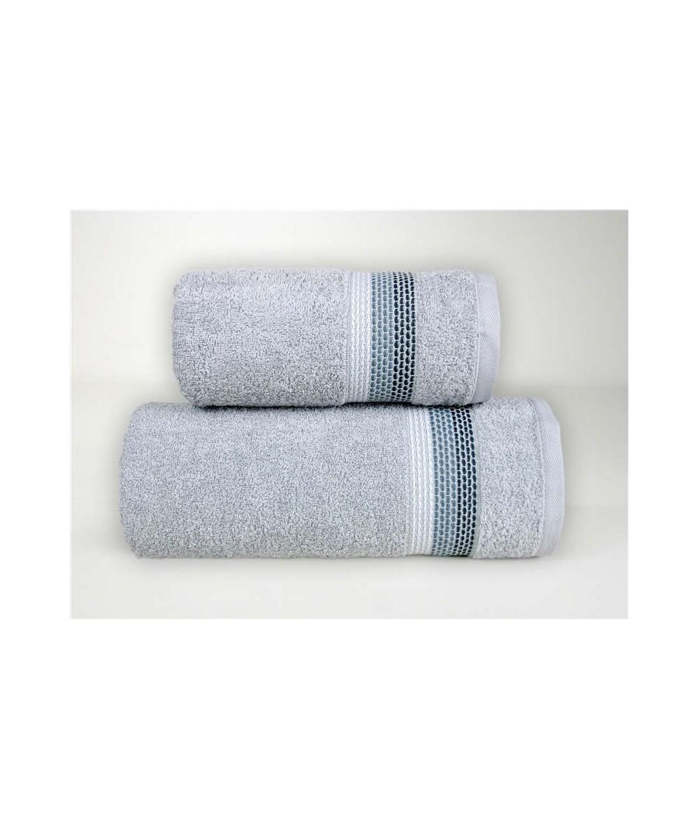 Ręcznik Ombre bawełna 50x90 Jasny Popielaty GRENO