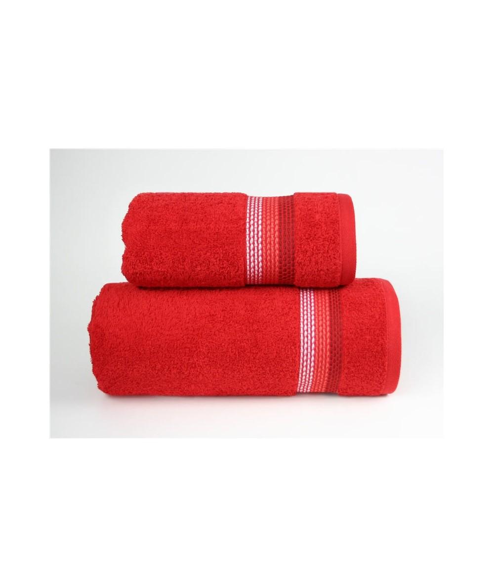 Ręcznik Ombre bawełna 70x140 Czerowny GRENO