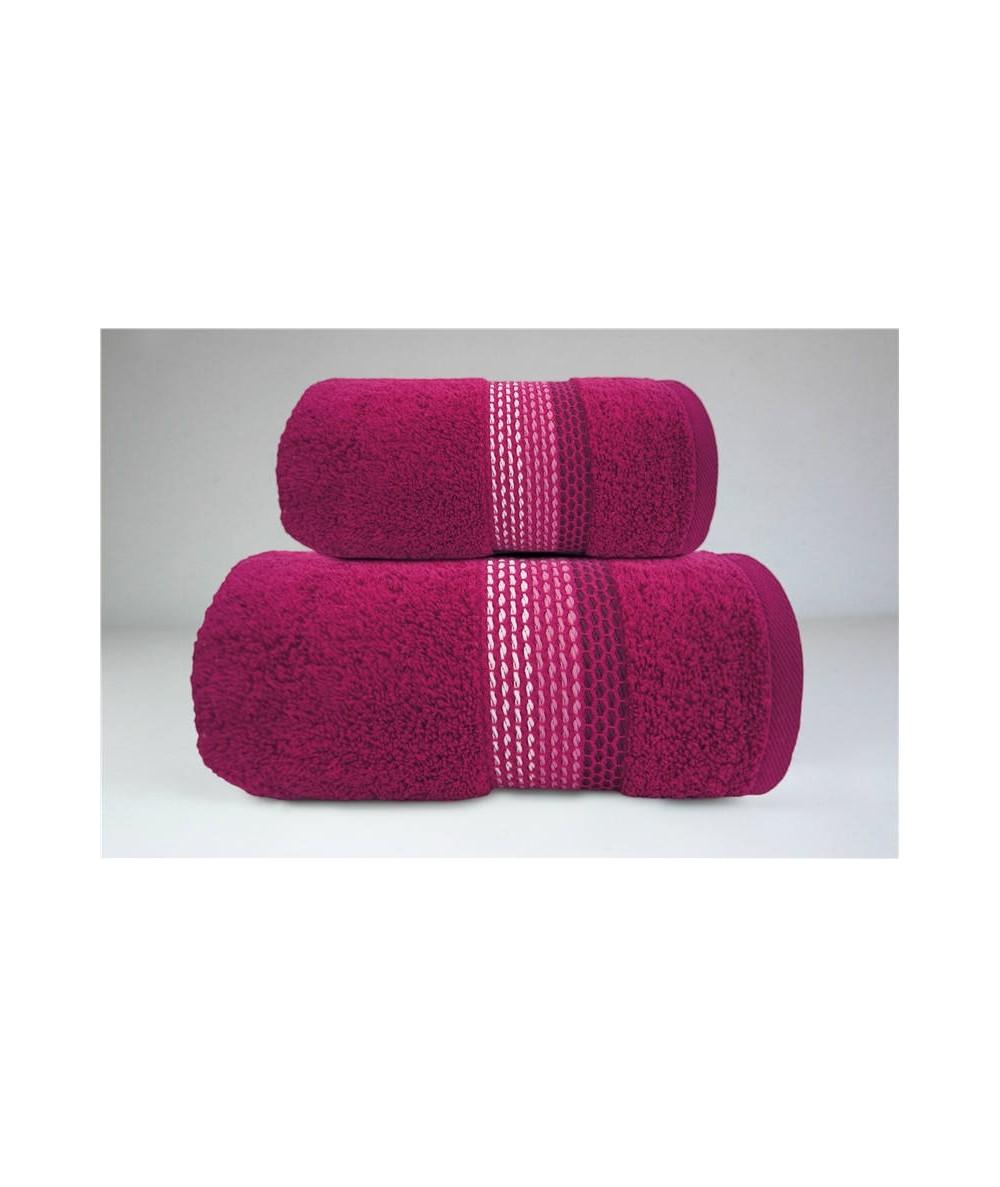 Ręcznik Ombre bawełna70x140 Fuksja GRENO
