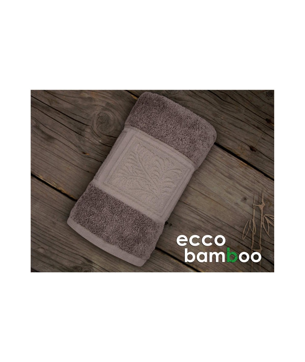 Ręcznik antybakteryjny  Ecco Bamboo bambus 70x140 Brąz GRENO