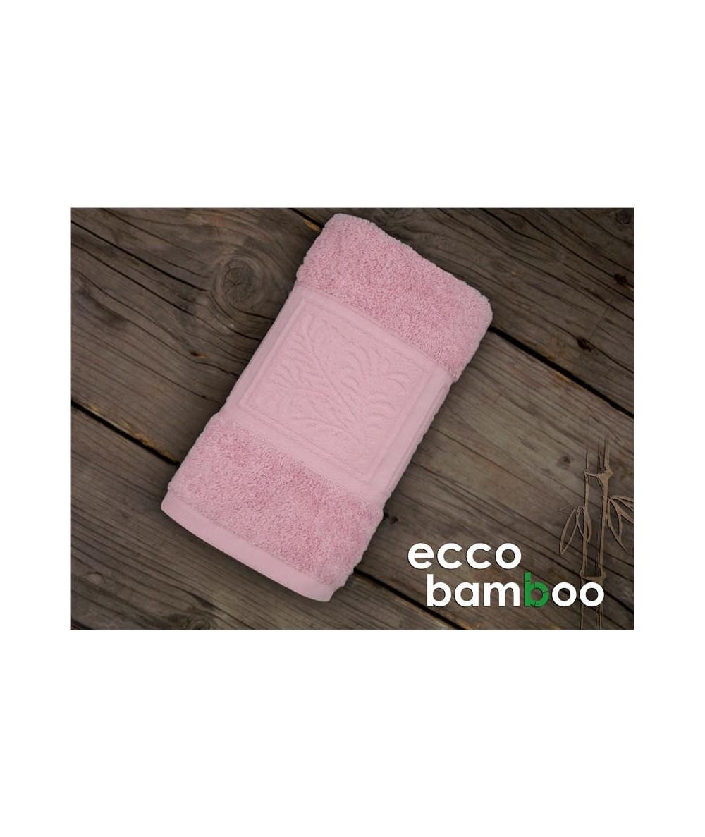 Ręcznik antybakteryjny  Ecco Bamboo bambus 70x140 Różowy GRENO