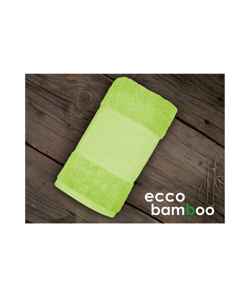 Ręcznik antybakteryjny  Ecco Bamboo bambus 70x140 Zielony GRENO