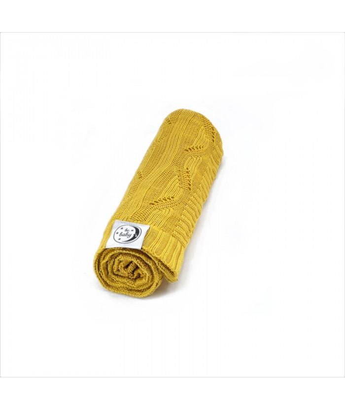 Kocyk bambusowy BeBaby 75x100 Żółty POLDAUN
