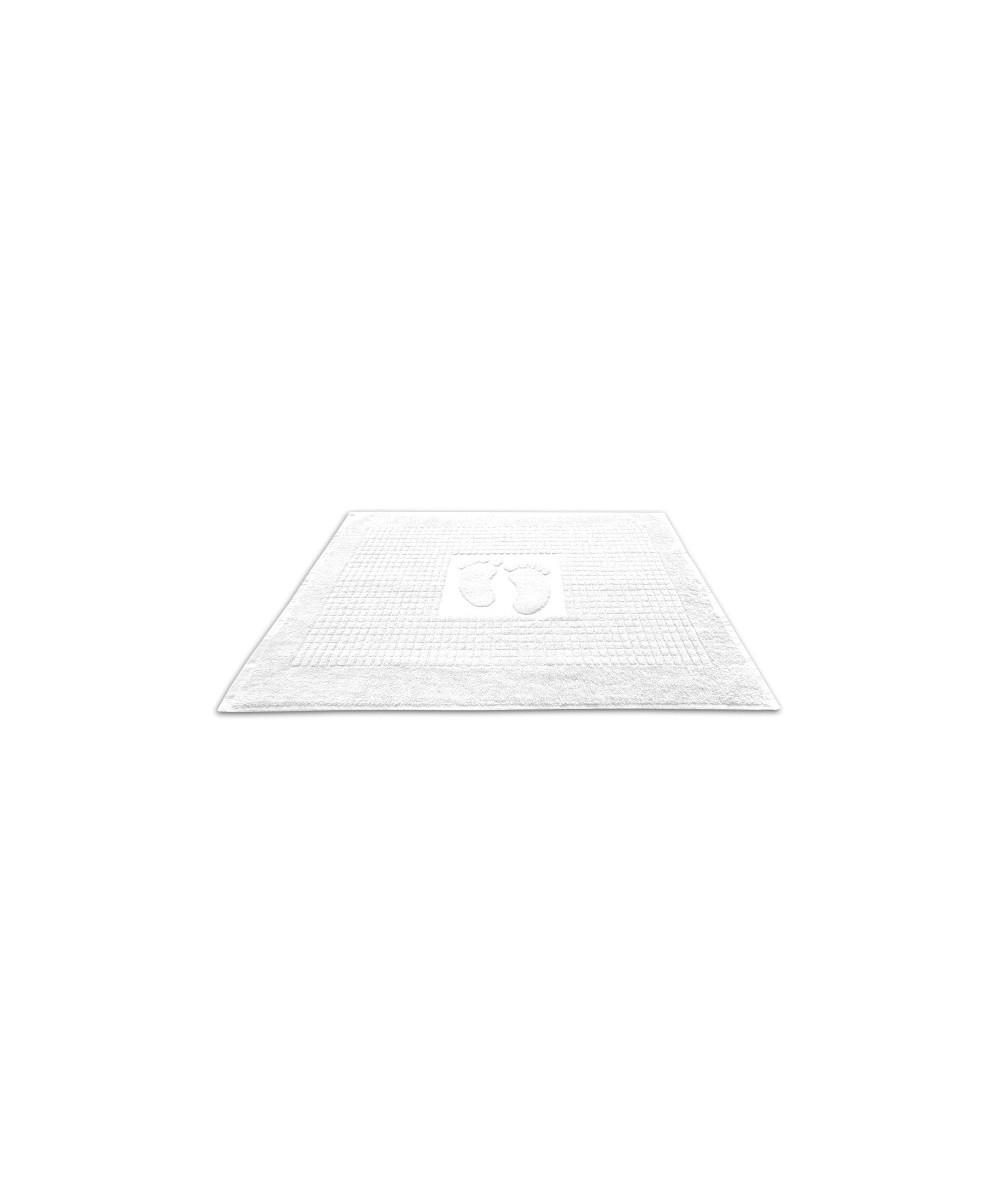 Dywanik łazienkowy bawełna 50x70 stopki biały
