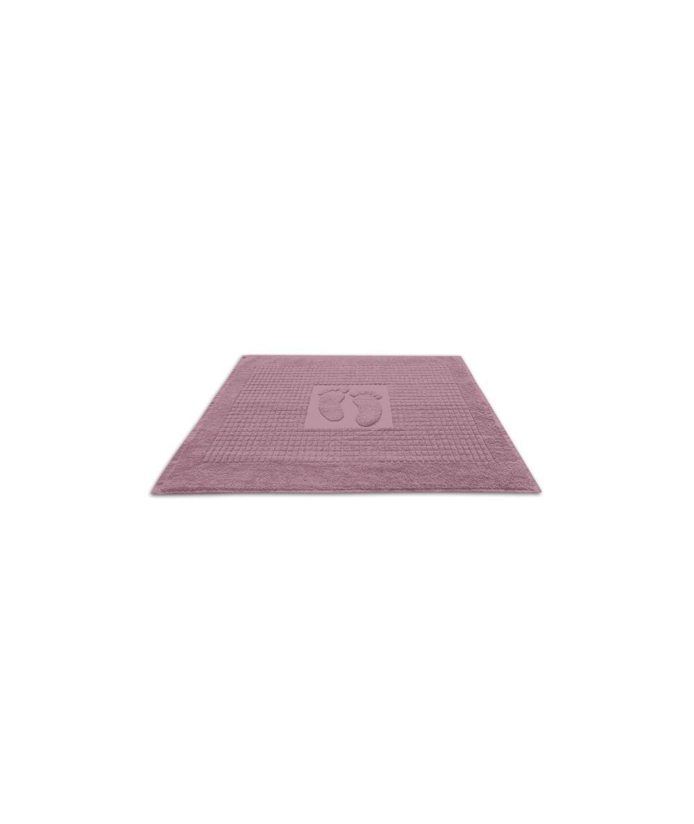 Dywanik łazienkowy bawełna 50x70 stopki fiołek