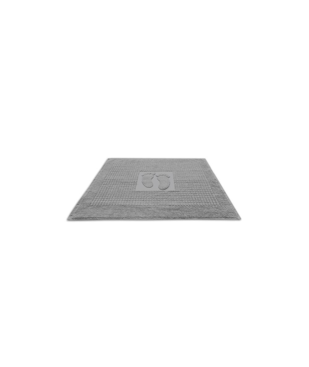 Dywanik łazienkowy bawełna 50x70 stopki szary