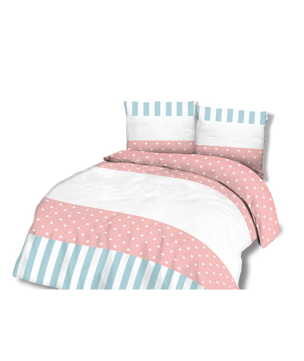 Pościel bawełna CottonLove 160x200 + 2x70x80 z zamkiem 71403
