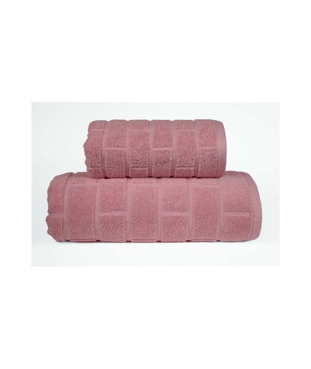 Ręcznik Brick mikrobawełna 50x90 Różany