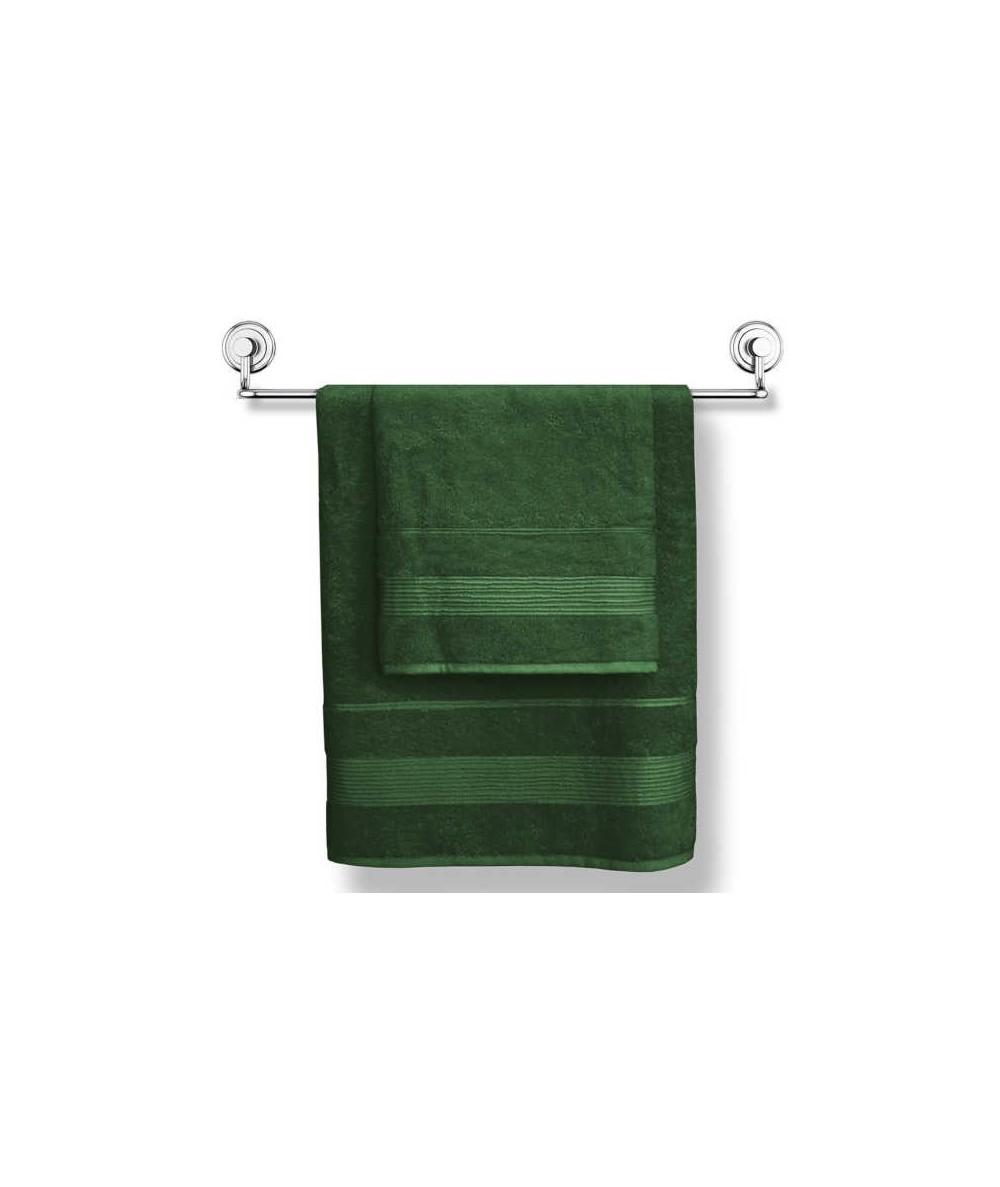 Ręcznik bambusowy Moreno 50x90 kpl 2szt ciemna zieleń