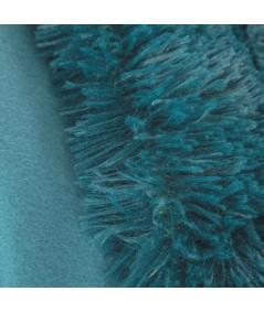 Koc futrzany narzuta Lettie 170x210 ciemny turkus