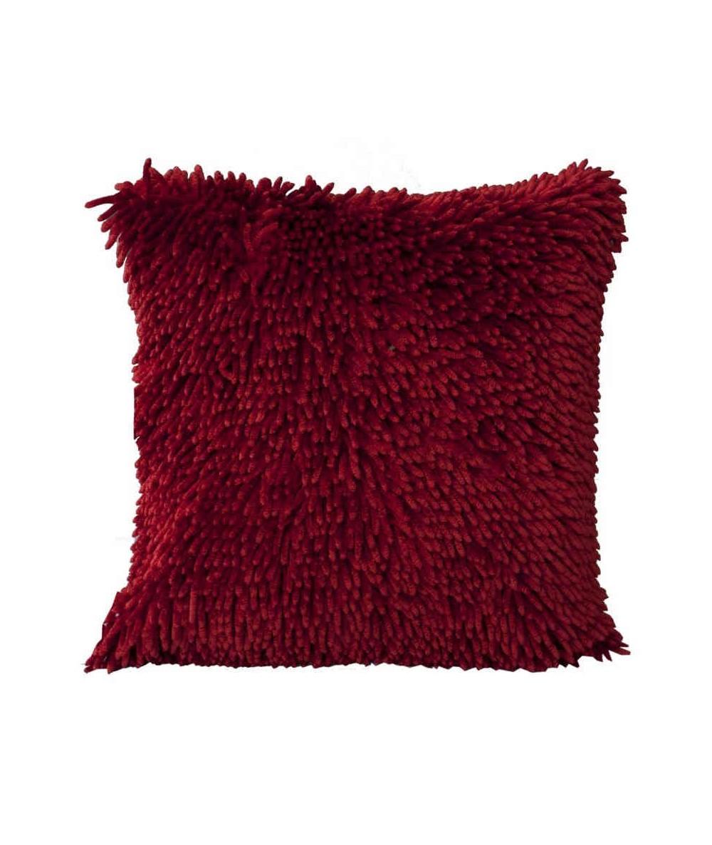 Poszewka z frędzlami Shaggy 40x40 czerwień