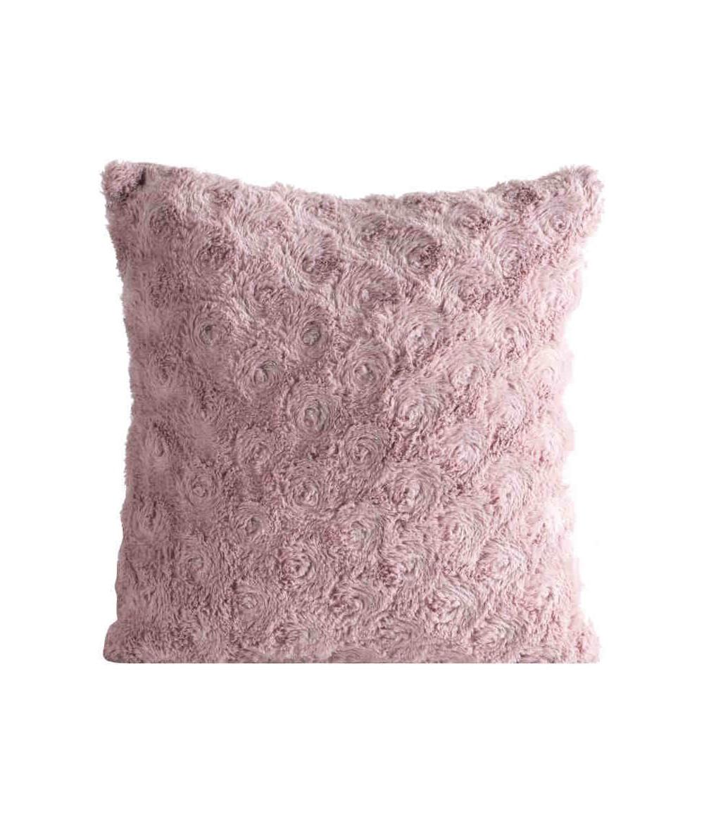 Poszewka futrzana Rosalia 40x40 różowa