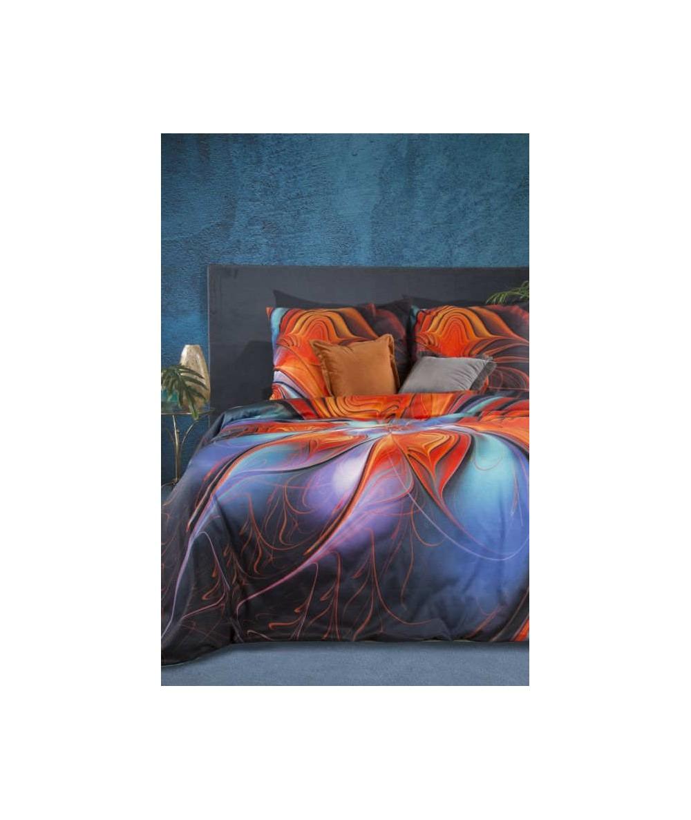 Pościel makosatyna bawełniana Eva Minge Edna 160x200 + 2x70x80 z zamkiem