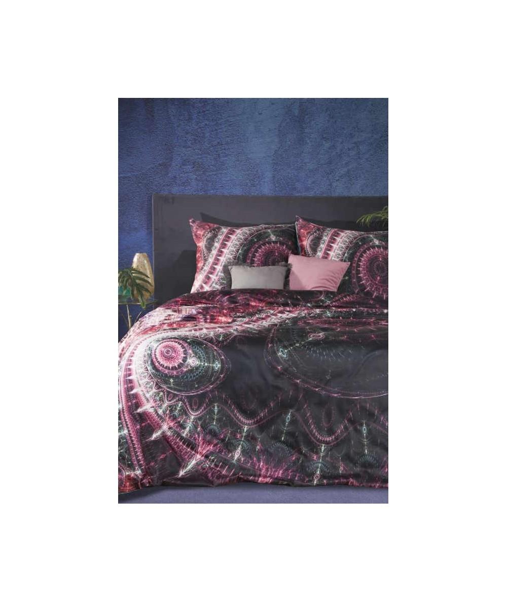 Pościel makosatyna bawełniana Eva Minge Esther 160x200 + 2x70x80 z zamkiem