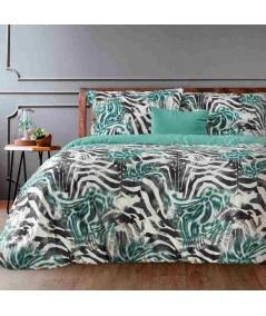 Pościel satyna bawełniana Zebra 160x200 + 2x70x80 z zamkiem