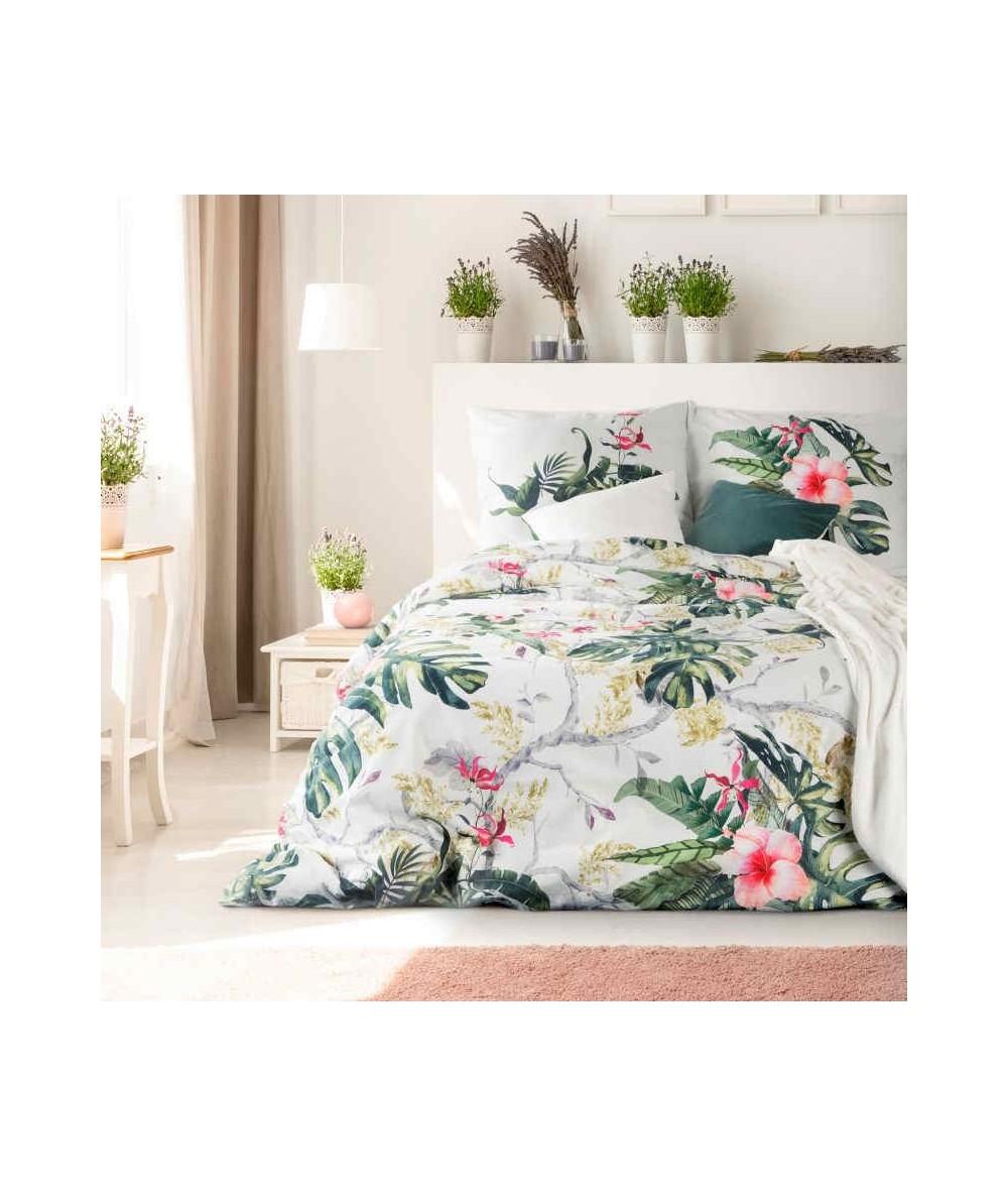Pościel bawełna hiszpańska Dalia 160x200 + 2x70x80 z zamkiem