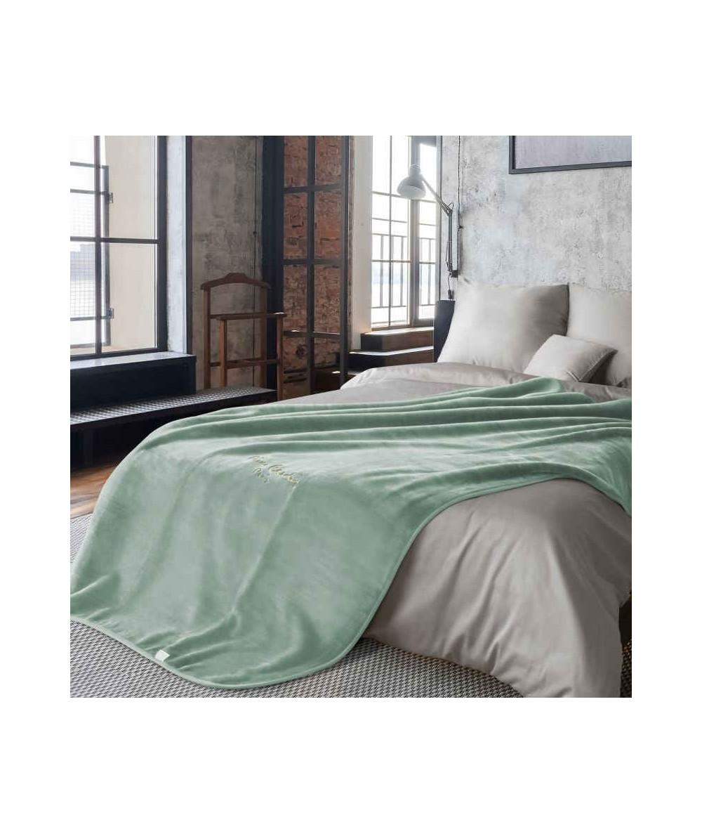 Koc pluszowy PIERRE CARDIN Clara 220x240 jasny zielony