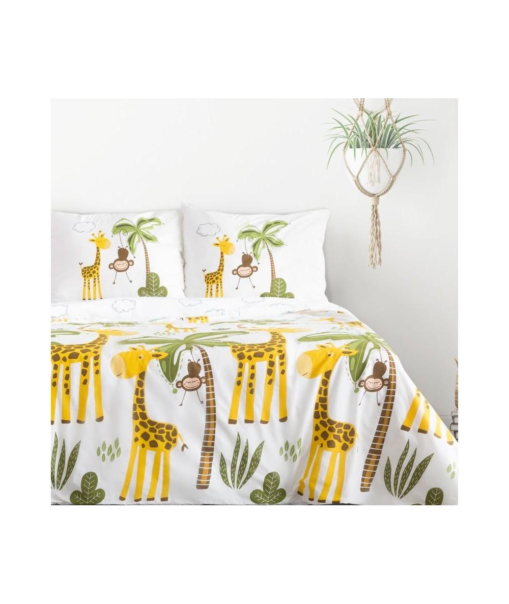 Pościel bawełna Giraffe 160x200 + 2x70x80 z zamkiem
