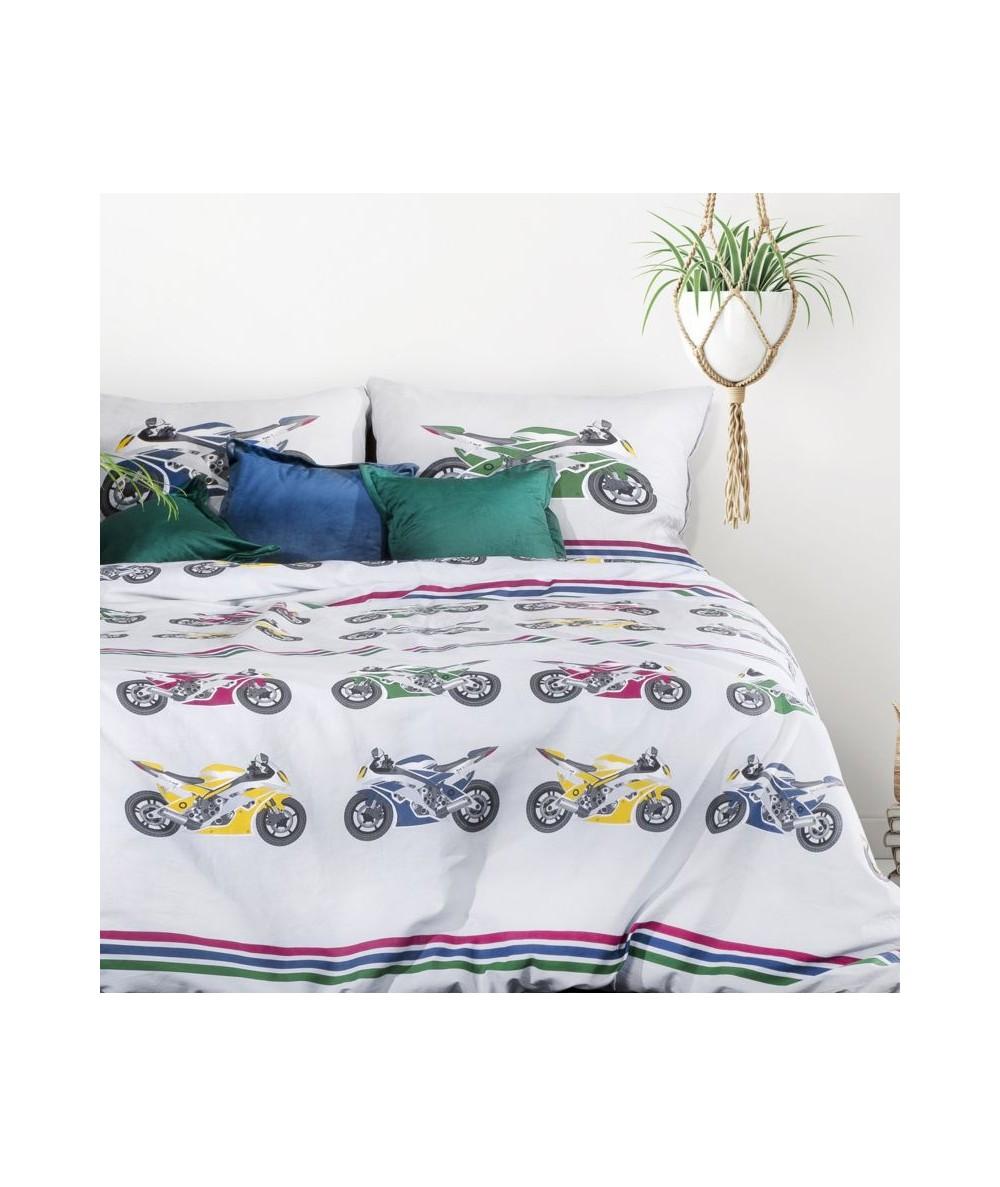 Pościel bawełna Honda 160x200 + 2x70x80 z zamkiem
