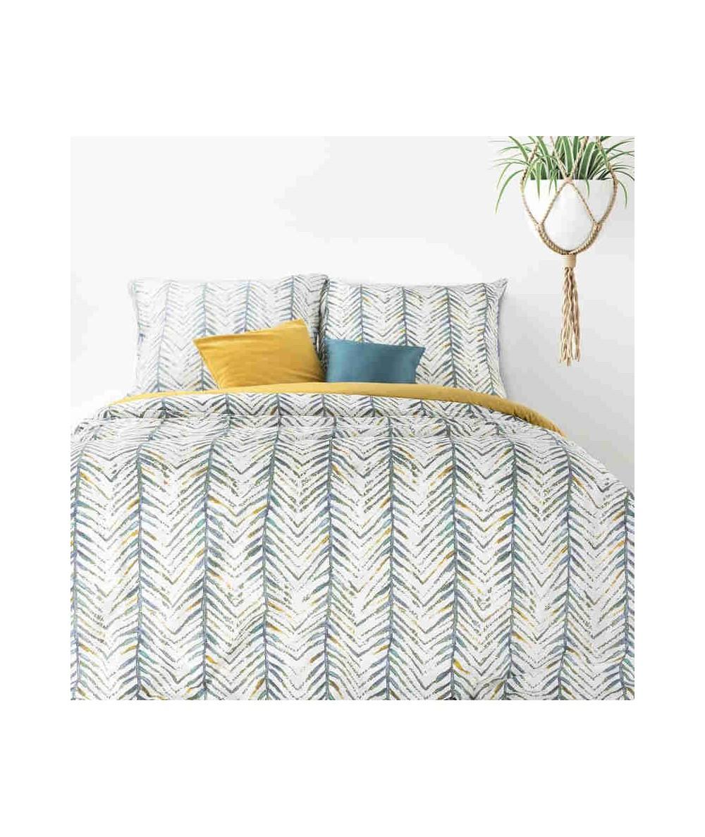 Pościel bawełna Aura 160x200 + 2x70x80 z zamkiem