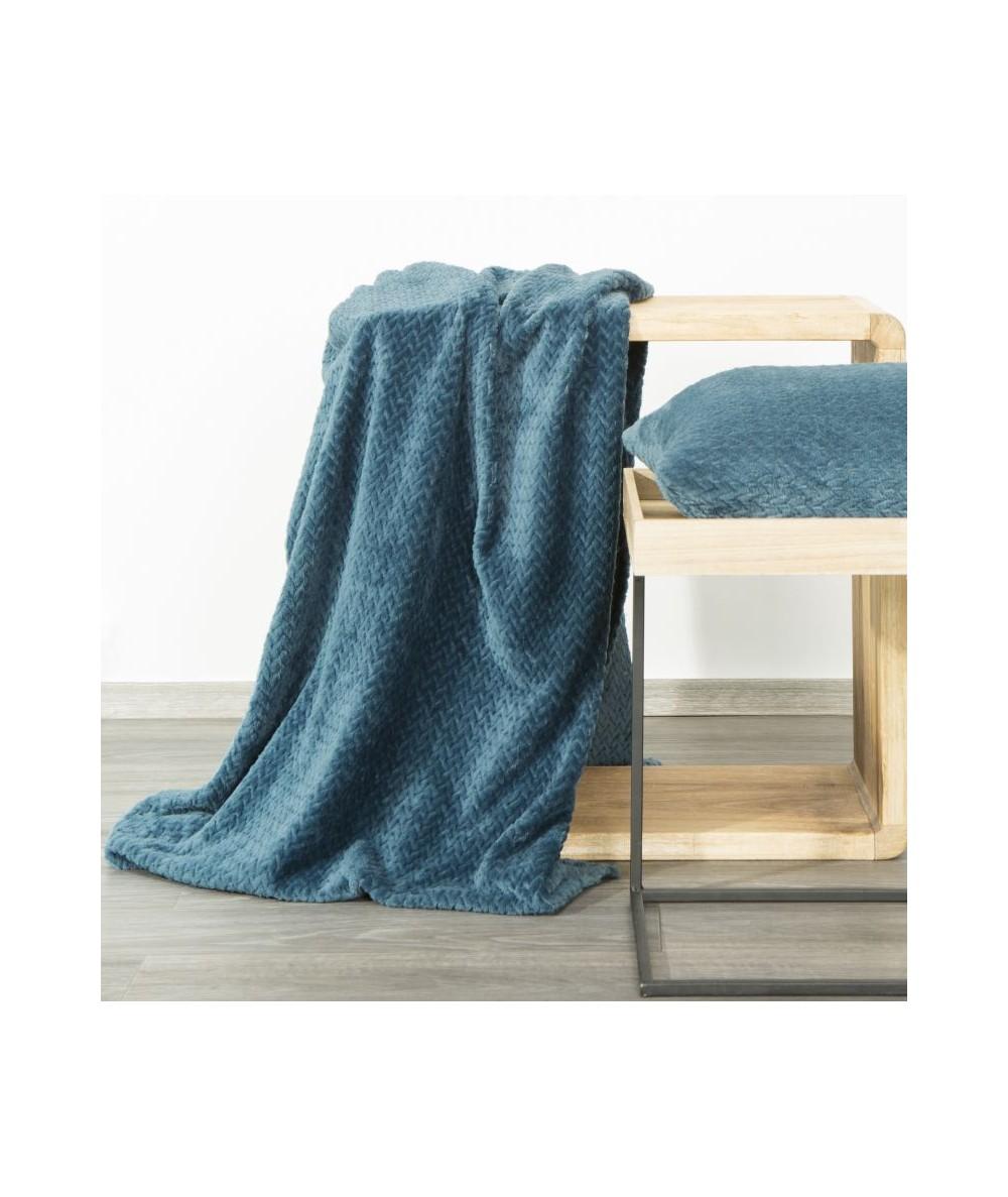 Koc pluszowy Cindy III 170x210 niebieski