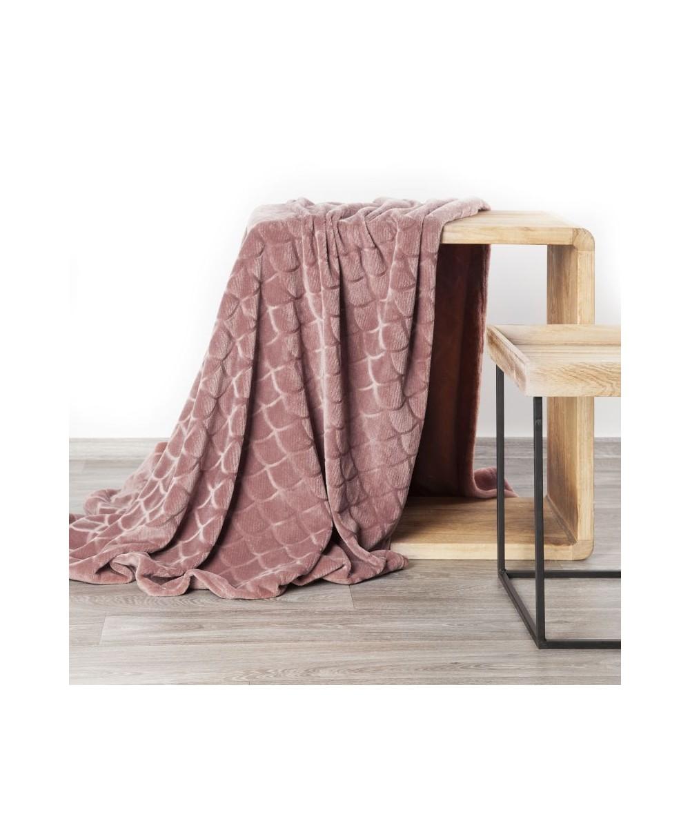 Koc pluszowy Mery 70x160 różowy