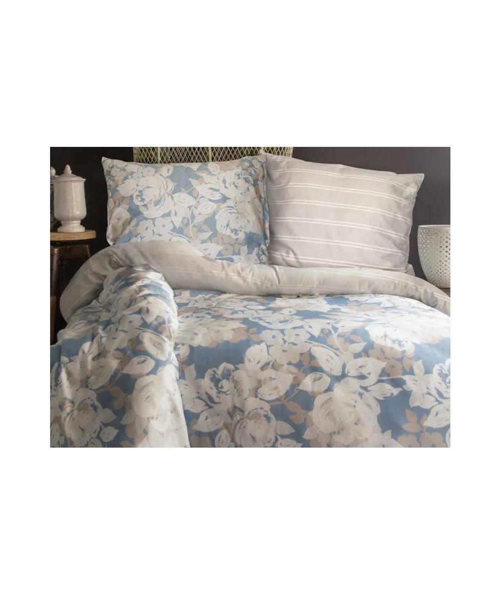 Pościel satyna bawełniana Deco Rose 200x220 + 2x70x80 Luxury
