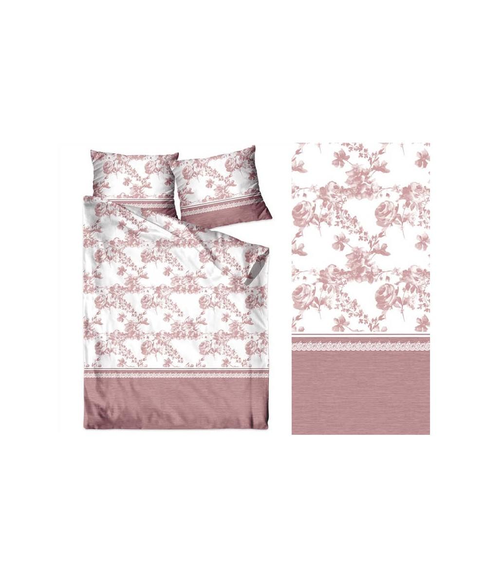Pościel bawełna Bielbaw 140x200 + 1x70x80 z zamkiem Romantyczne Wspomnienie