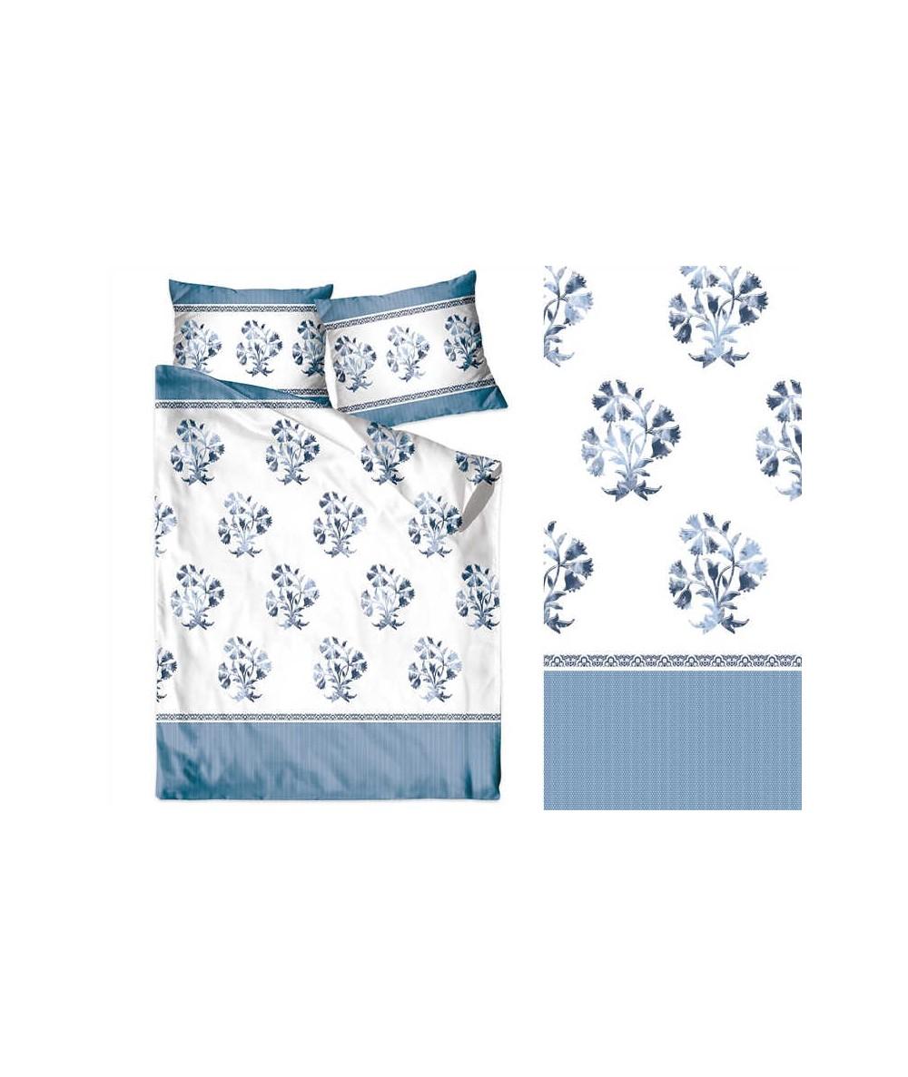 Pościel bawełna Bielbaw 140x200 + 1x70x80 z zamkiem Błękitne Ukojenie