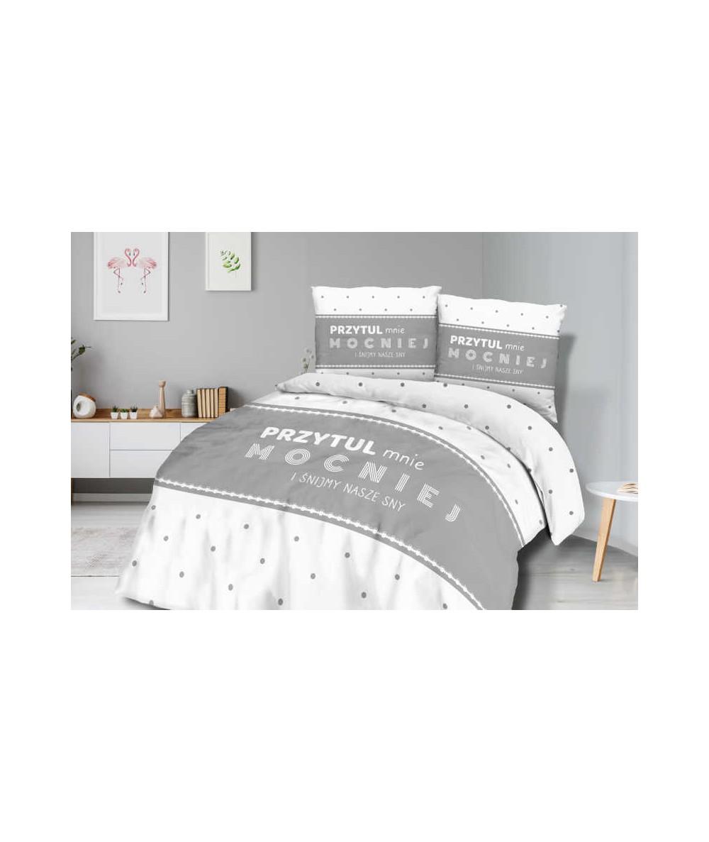 Pościel bawełna Panelove 160x200 + 2x70x80 z zamkiem 61446-1